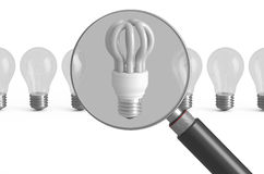 Primat besparinglampbegrepp vektor illustrationer