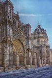 Saint Mary of Toledo cathedral, España. The Primate Cathedral of Saint Mary of Toledo is a Roman Catholic church in Toledo, Spain. It is the seat of the royalty free stock image