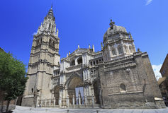 The Primate Cathedral of Saint Mary of Toledo, Spain Stock Images