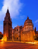 Primate Cathedral of Saint Mary in Toledo Stock Image