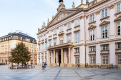 Primate Palace at square in Bratislava Stock Images
