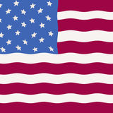 Primative American Flag as folk art Stock Image