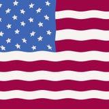 Primative American Flag as folk art stock image