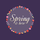 Primavera stock de ilustración