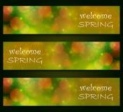 Primavera agradable - borrosa, diseño del bokeh, fondo del color verde Foto de archivo libre de regalías