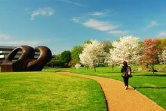Primavera al giardino della scultura di Pepsico Immagine Stock Libera da Diritti