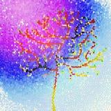 Primavera, albero, il cielo, la galassia Fotografie Stock