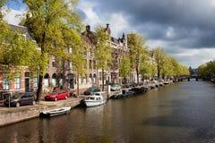 Primavera a Amsterdam immagine stock