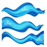 Primavera Aqua Flow Vector Design Element del corte del papel para su moderno Fotos de archivo