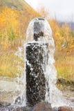 Primavera artesiana en montañas del otoño Fotografía de archivo libre de regalías