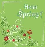 primavera Blanco-verde postal Foto de archivo