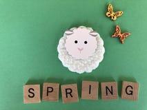 Primavera, concepto creativo, con el sitio para el texto fotografía de archivo