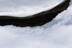 Primavera congelada del lago en el deshielo del parque de la ciudad imagen de archivo