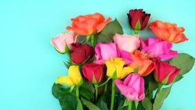 Primavera de arriba con las flores frescas hermosas libre illustration