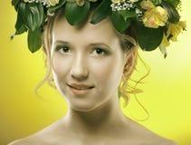 Primavera de la muchacha Imagenes de archivo
