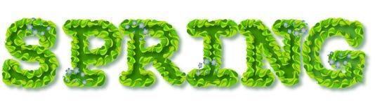 PRIMAVERA decorativa del texto Imagen de archivo libre de regalías