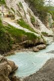 Primavera del agua termal de Bagni san Filippo foto de archivo libre de regalías