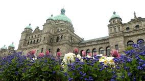 Primavera del edificio de Victoria Parliament almacen de video