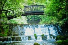Primavera del fiume di Bosna Immagini Stock