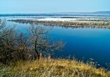 Primavera del fiume Volga. Fotografie Stock