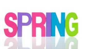 Primavera del texto Imagen de archivo libre de regalías
