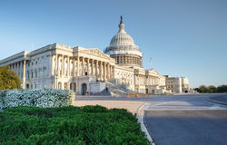Primavera della costruzione del Campidoglio degli Stati Uniti del Washington DC Fotografie Stock Libere da Diritti