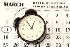 Primavera domenica di andata di risparmio di luce del giorno al 2:00 a M. Immagini Stock Libere da Diritti