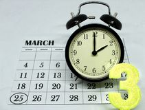 Primavera domingo delantero del horario de verano en el 2:00 a M Fotografía de archivo libre de regalías