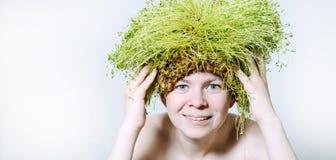 Primavera e donna di eco Fotografia Stock