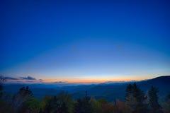 primavera em Ridge Parkway Appalachians Smoky Mount azul cênico Imagens de Stock