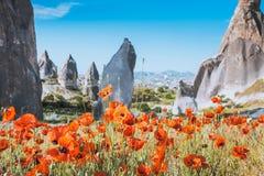 Primavera en Cappadocia, Turquía imagenes de archivo