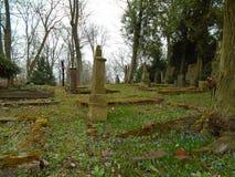 Primavera en cementerio judío abandonado y registrado Fotografía de archivo libre de regalías