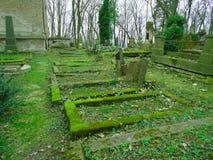 Primavera en cementerio judío abandonado y registrado Fotografía de archivo