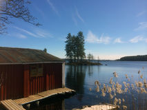 Primavera en el lago - Suecia Fotos de archivo libres de regalías