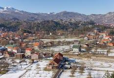 Primavera en la ciudad de Cetinje montenegro Foto de archivo libre de regalías