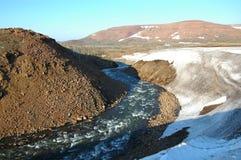 Primavera en la tundra (Sibiria del norte) Foto de archivo libre de regalías