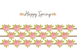 Primavera feliz - fondo floral con las peonías Fotografía de archivo