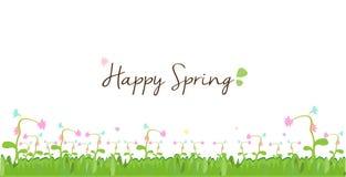 Primavera feliz - frontera y fondo florales del arco iris Fotografía de archivo libre de regalías