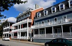 Primavera fría, NY: Hudson House River Inn Imagen de archivo