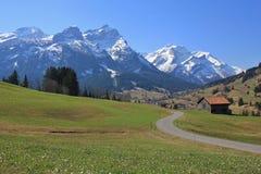 Primavera a Gsteig bei Gstaad Immagini Stock