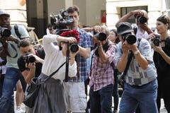Primavera 2016, i paparazzi di settimana di modo di New York City Fotografia Stock Libera da Diritti