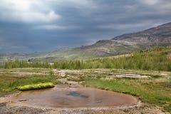 Primavera Islandia de la agua caliente Imagen de archivo libre de regalías