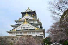 Primavera a Kyoto, Giappone (Osaka Castle) Fotografia Stock Libera da Diritti