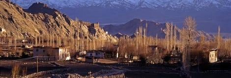 Primavera in Leh, Ladakh - panorama Immagini Stock