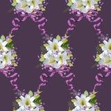 Primavera Lily Flowers Backgrounds Imagen de archivo