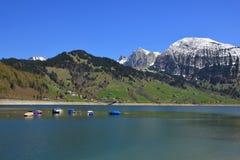 Primavera nel lago Waegital Fotografia Stock