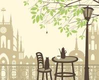 Primavera nella vecchia città Immagine Stock