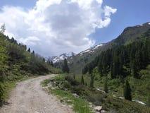 Primavera nelle montagne Tirolo Austria Immagini Stock Libere da Diritti