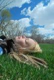 Primavera que Napping Fotografia de Stock