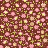 Primavera senza cuciture con i fiori illustrazione di stock